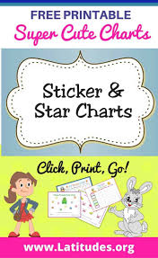 Printable Star Charts Free Printable Sticker Star Charts For Teachers Students