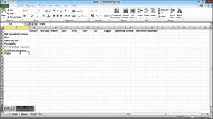 How To Make An Excel Spreadsheet For Budget Household Budget Spreadshet How To Create A Household Budget