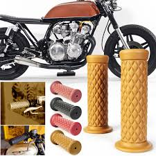 details about pair cafe racer 22mm 7 8 handlebar hand grips for xs650 rd350 rd400 vine