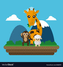 Monkey Graphic Design Giraffe Sheep And Monkey Design Graphic