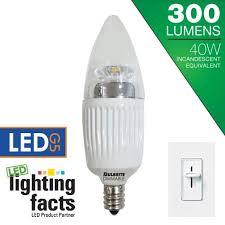 bulbrite led5ctc 30k d 5 watt dimmable led chandelier bulbs candelabra e12