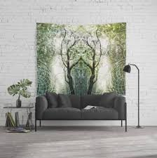 bamboo forest geometry fabric banners wall tapestry