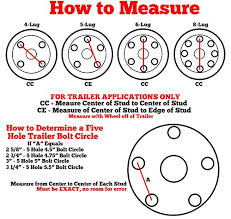 How To Measure Bolt Pattern Awesome Amazon 48 White Spoke Trailer Wheel With Bias ST4848D48 Tire