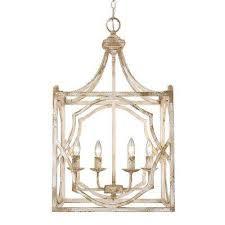 lau collection 4 light antique ivory pendant