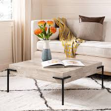 Coffee Table Light Gray Safavieh Amazon Com Safavieh Home Eli Modern Industrial Light Grey