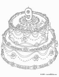 Coloring Pages For 9 Year Olds Coloring Pages Big Birthday Cake