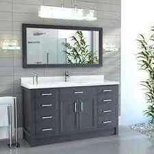 gray bathroom vanity. Calais 60\ Gray Bathroom Vanity