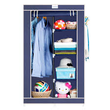cbeeso 5 racks compact portable wardrobe cb220 nevy blue now with 2 years warranty