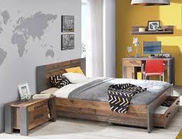 Jugendzimmer Cedric 69 Vintage Braun 4 Teilig Schlafzimmer Bett Nako