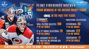 Single Game Tickets Flint Firebirds