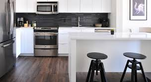 kitchen with vinyl plank flooring from the gallery design center