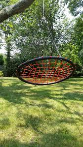 Tree Swings Amazoncom Tree Swing Giant 40 Spider Web Net Swing Orange