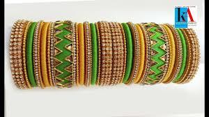 Bridal Bangle Set Designs How To Make Designer Zigzag Bridal Bangle Set Using Designer