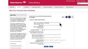 bank of america how to set up bill pay