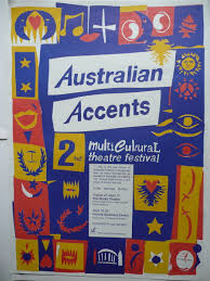 n accents arabi mapping poster of the 2nd multicultural theatre festival 1992