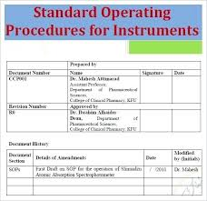 Sop Templates Beauteous Standard Operating Procedures Templates Elegant Why Sop Is Used R