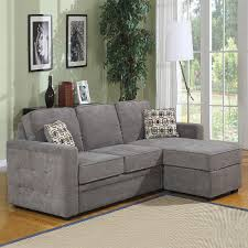 ... Sectional Sleeper Sofas For Small Grey Colored Sofa Elegant Two Pillows  Artistic Painting Brown Fluffy Carpet ...