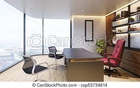 modern interior office stock. Modern Interior Of Boss Office - Csp53734614 Stock