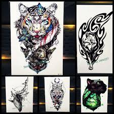 Statečný Tygr Totem Dočasné Tetování Nálepka ženy Muži Body Art