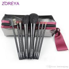 zoreya makeup brush kit goat hair make up brushes set case branded quality cosmetic tools kits 8pcs makeup brush kit make up brushes set case makeup tool