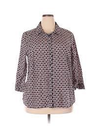 Details About Jcpenney Women Blue Long Sleeve Blouse 2x Plus