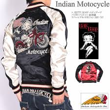 from indian motocycle インディアンモトサイクル it is an introduction of betty boop betty boop collaboration ska jean bikie betty total embroidery