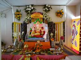 chaturthi decoration ideas items at home