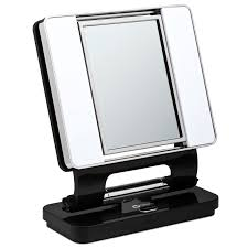 professional makeup mirror. ottlite natural makeup mirror black | lighted vanity mirrors for professional