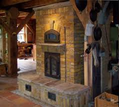 masonry heater with bake oven