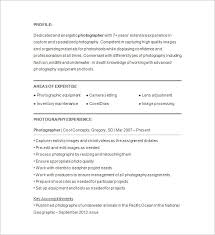 Resume Template Examples Sample Photographer Resume Template - Bradfordpa.us