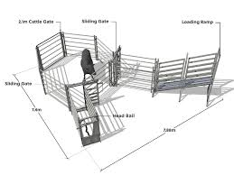 Cattle Yard Designs 10 Head 10 Head Cattle Yard Fixed Loading Ramp Premium Stock