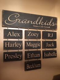 personalized gifts from grandchildren to grandma carved wood sign with grandchildren names photo credit