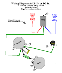 wiring diagram gibson les paul jr images les paul gt ep  les paul jr or sg master volume tone and 3 way selector