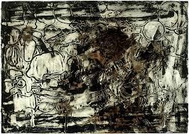 bo joseph deluge i 1999 ink oil pastel and tempera on paper
