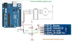 stepper motor sd and direction control using arduino and bluetooth hc 06 module through an android app