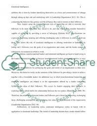 emotional intelligence essay example topics and well written  emotional intelligence essay example