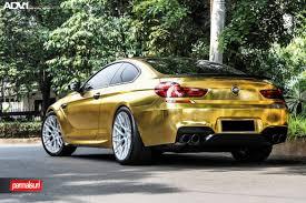 BMW Convertible custom m6 bmw : Crazy Gold Wrapped BMW M6 - ADV10.0 MV2 CS Wheels