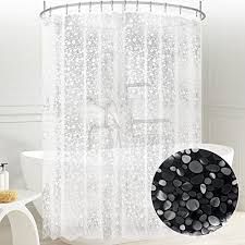 dry quickly and easy to clean just wipe clean with a damp cloth or a quick rinse semitranspa design you can use it alone or as a shower curtain liner