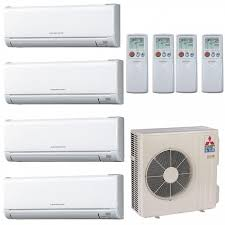 mitsubishi ductless heat pump. Modren Heat Mitsubishi 18000 BTU 18 SEER Ductless Dual Zone Heat Pump System 66 With Air U0026