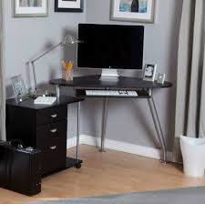 corner desk home. Gallery Of Computer Corner Desk Home Office Furniture Also Small For Bedroom Modern Grey Painted Iron Laminated Ideas With Black Wood