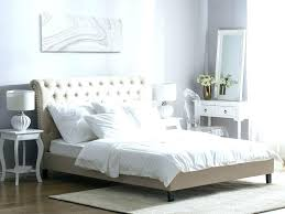 Button Tufted Headboard Bed Frame Black And White High Wood Bedrooms ...