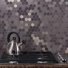 Image of: Peel And Stick Metal Tile Backsplash