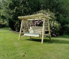 deluxe garden pendulum 3 seat swing