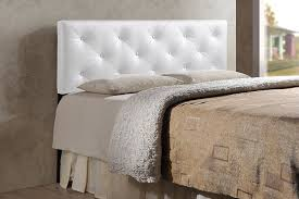 white upholstered headboard queen. Plain White Amazoncom  Baxton Studio Wholesale Interiors Baltimore Contemporary Faux  Leather Headboard Queen White For Upholstered Headboard Queen H