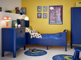 boys room furniture. Small Blue Kids Room Furniture With Yellow Wall Paint Boys