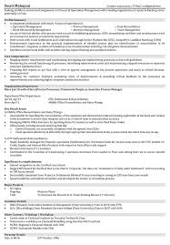 mis manager resume operations resume samples resume format for operations