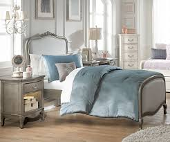 Kids Bedroom Furniture Collections Kensington Silver Finish Katherine Twin Size Upholstered Bed 30020