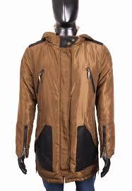 Details About Espirit Mens Jacket Parka Fur Hood Brown Size M