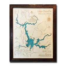 The Nautical Wood Map Collection 3d Lake Maps 5 000