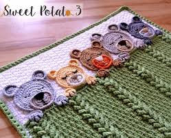 Crochet Patterns Blanket Adorable Sleep Tight Teddy Bear Blanket Pattern Crochet Pattern